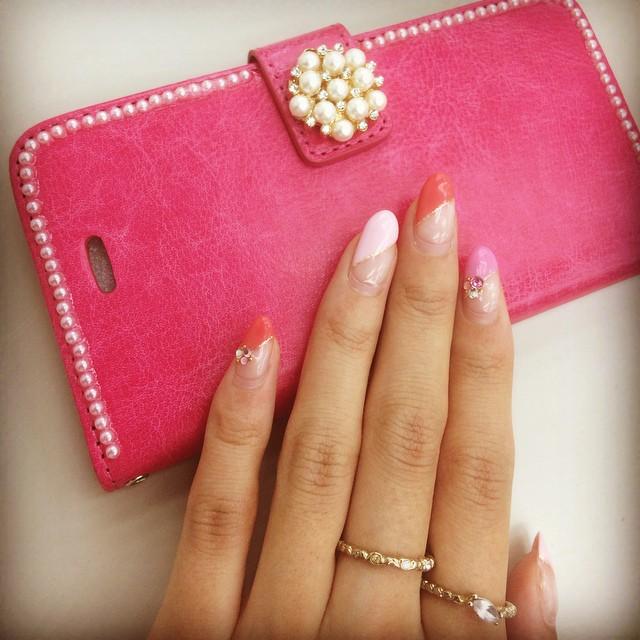 Instagram - pink graduation nail×pajour  #love#luxurygirl#instalike#fashionista#