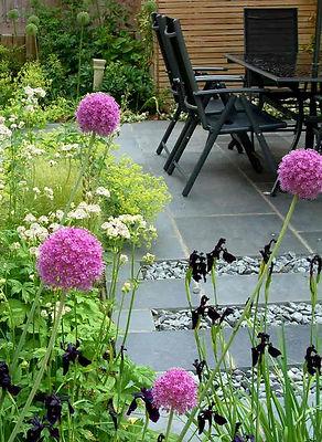 Contemporary Courtyard Woburn Sands Buckinghamshire Mark Langford Garden Design