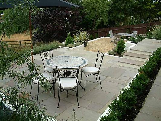 Terraced garden Buckinghamshire Mark Langford Garden Design