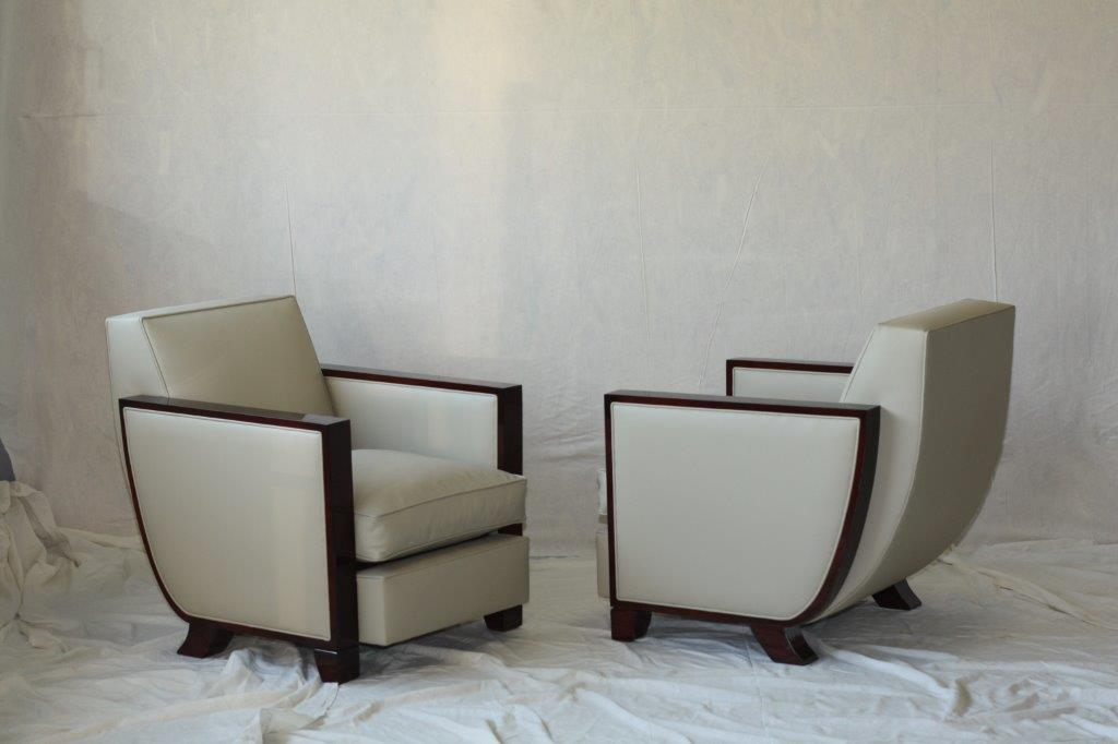 Art Deco Chairs High Gloss Finish