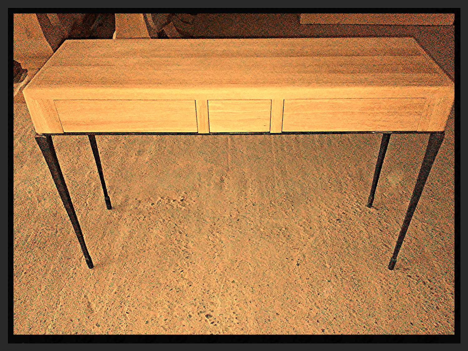 Console in Solid Oak