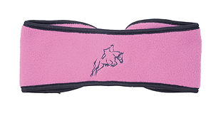 Hy Fleece Horse Head Band pink.jpg