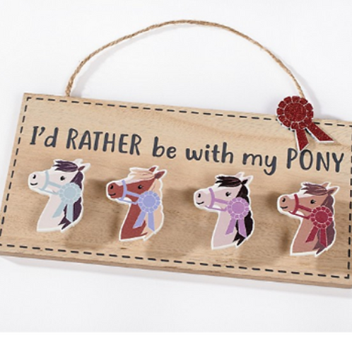 Pony Peg Plaque