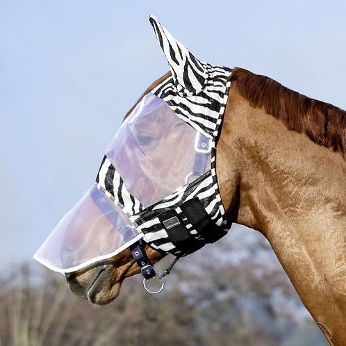 USG Zebra Stripe Fly Mask