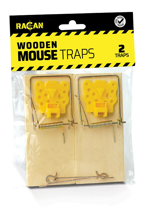 Racan Wooden Mouse Traps 2pk