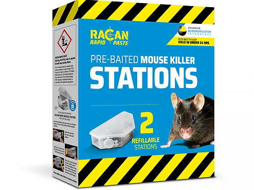 Racan Rapid Prebaited/Reuseable Mouse Stations