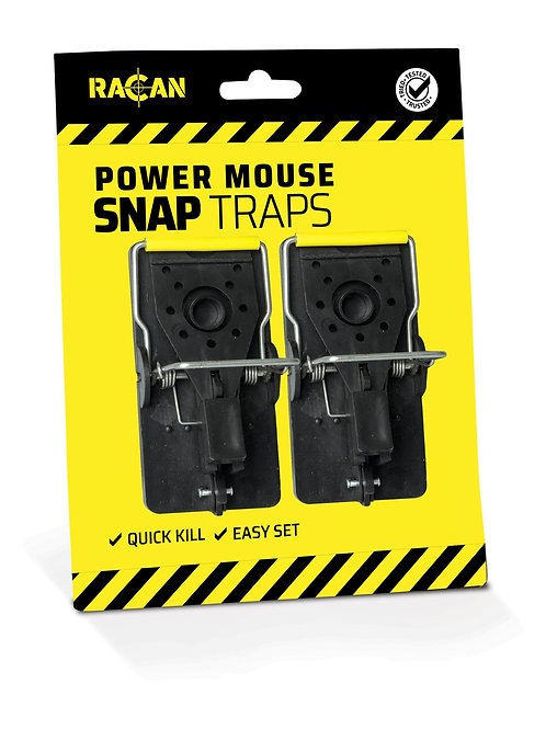 Racan Plastic Mouse Snap Traps - 2 pack