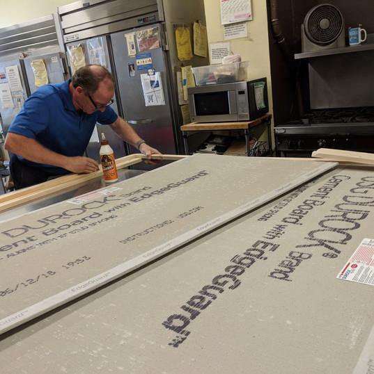 Scott creating the frame