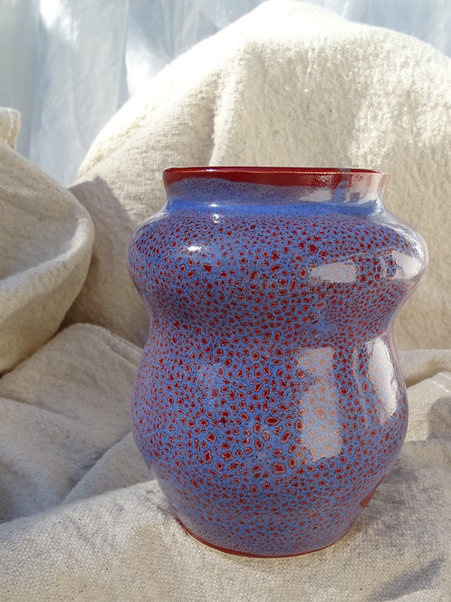 I Love You Red and Blue Mini Vase