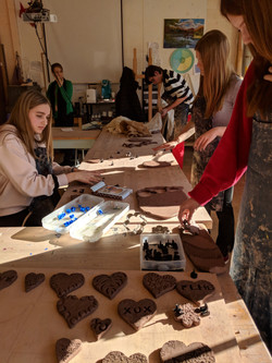 Designing Clay hearts with NAHS