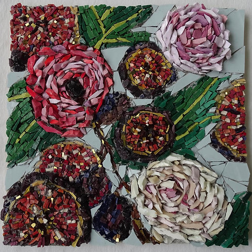 Peonies & Figs 12 x 12 in. Archival Print