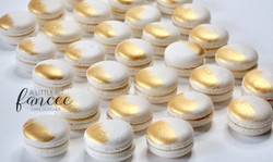 Hand Painted Gold Macarons