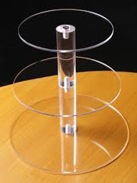 3 tier acrylic cupcake stand HIRE ONLY