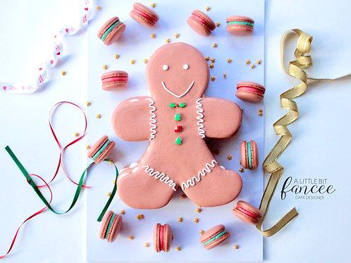 Macaron Gingerbread Man