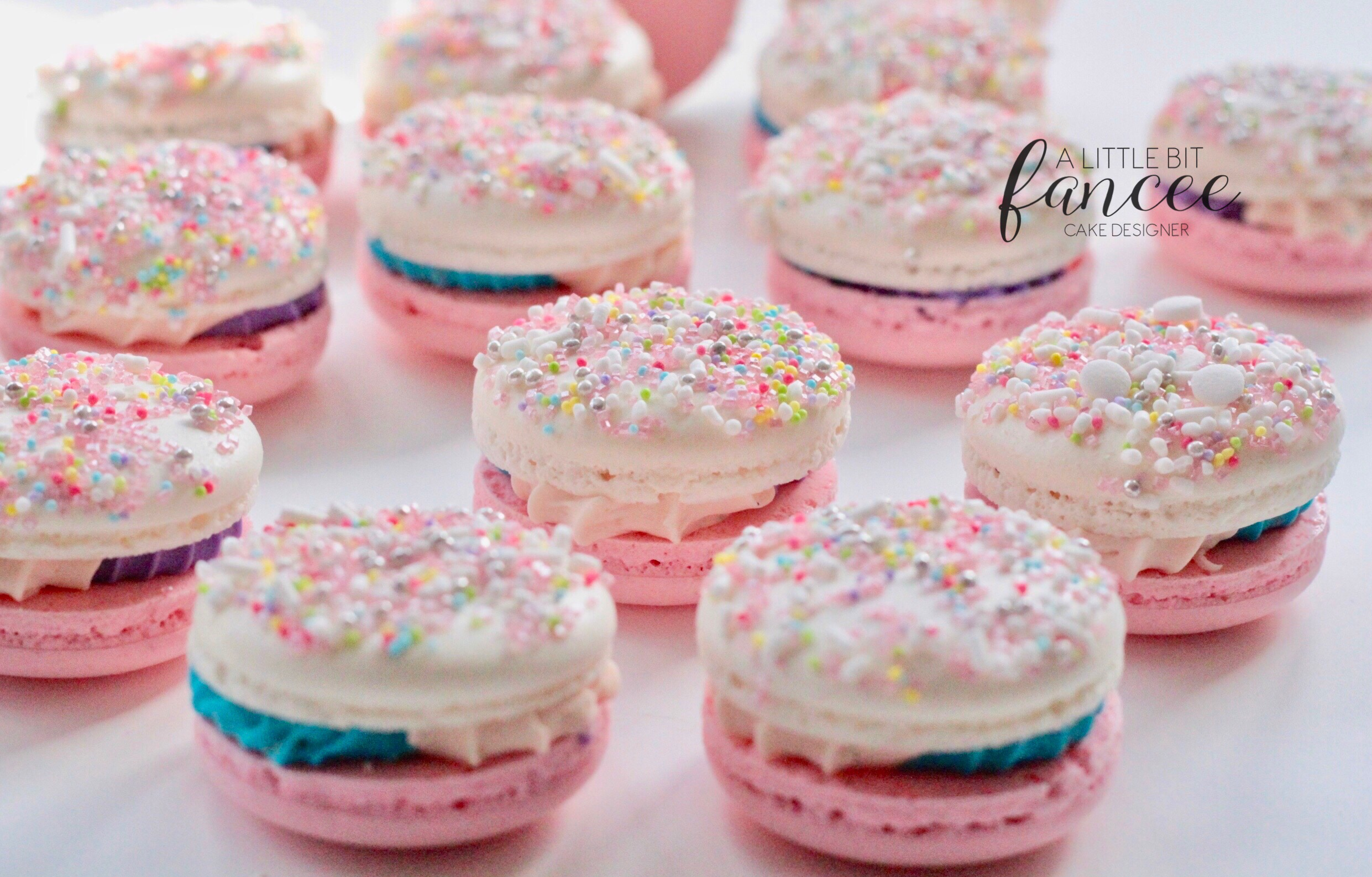 Unicorn inspired macarons