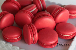 Bright and Vibrant Red Macarons