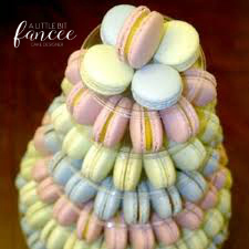 Multicoloured macarons for a different style than cake!