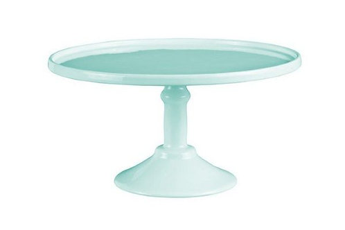 """12"""" round (30cms) mint green cake stand HIRE ONLY"""