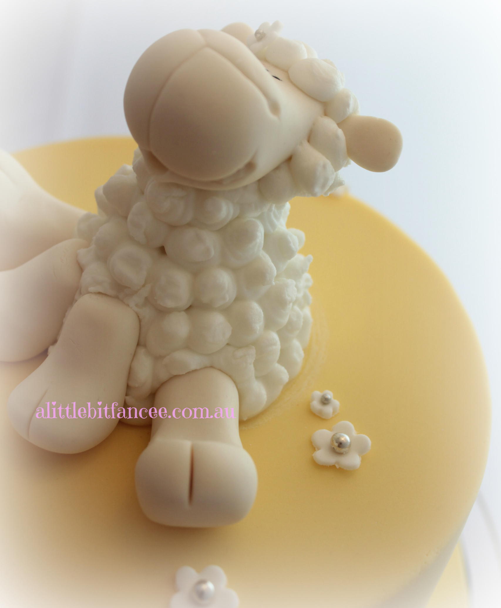 Fondant Sheep Topper