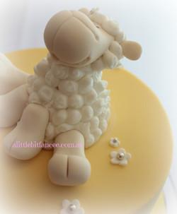 Fondant Sheep Topper