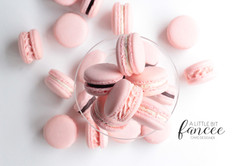 Strawberry & Chocolate Macarons