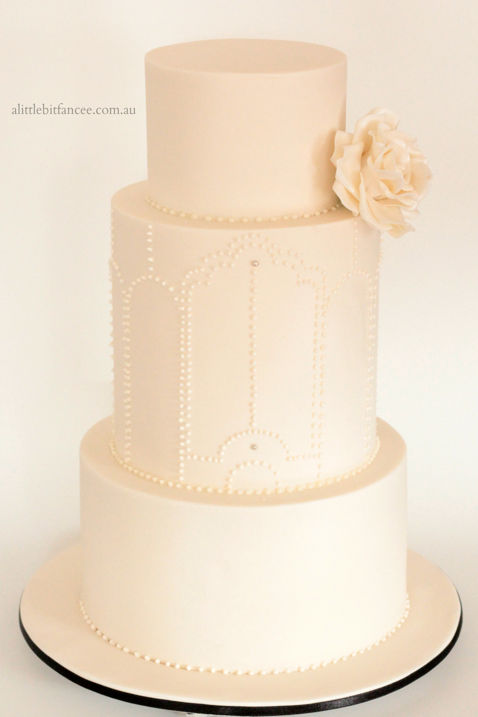 Ivory on Ivory wedding cake
