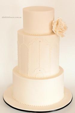 Ivory on Ivory wedding cake
