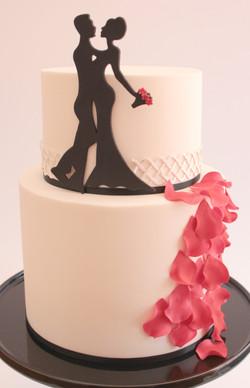 Silhouette Wedding cake