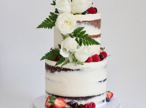 Naked Wedding Cakes for Rustic Weddings