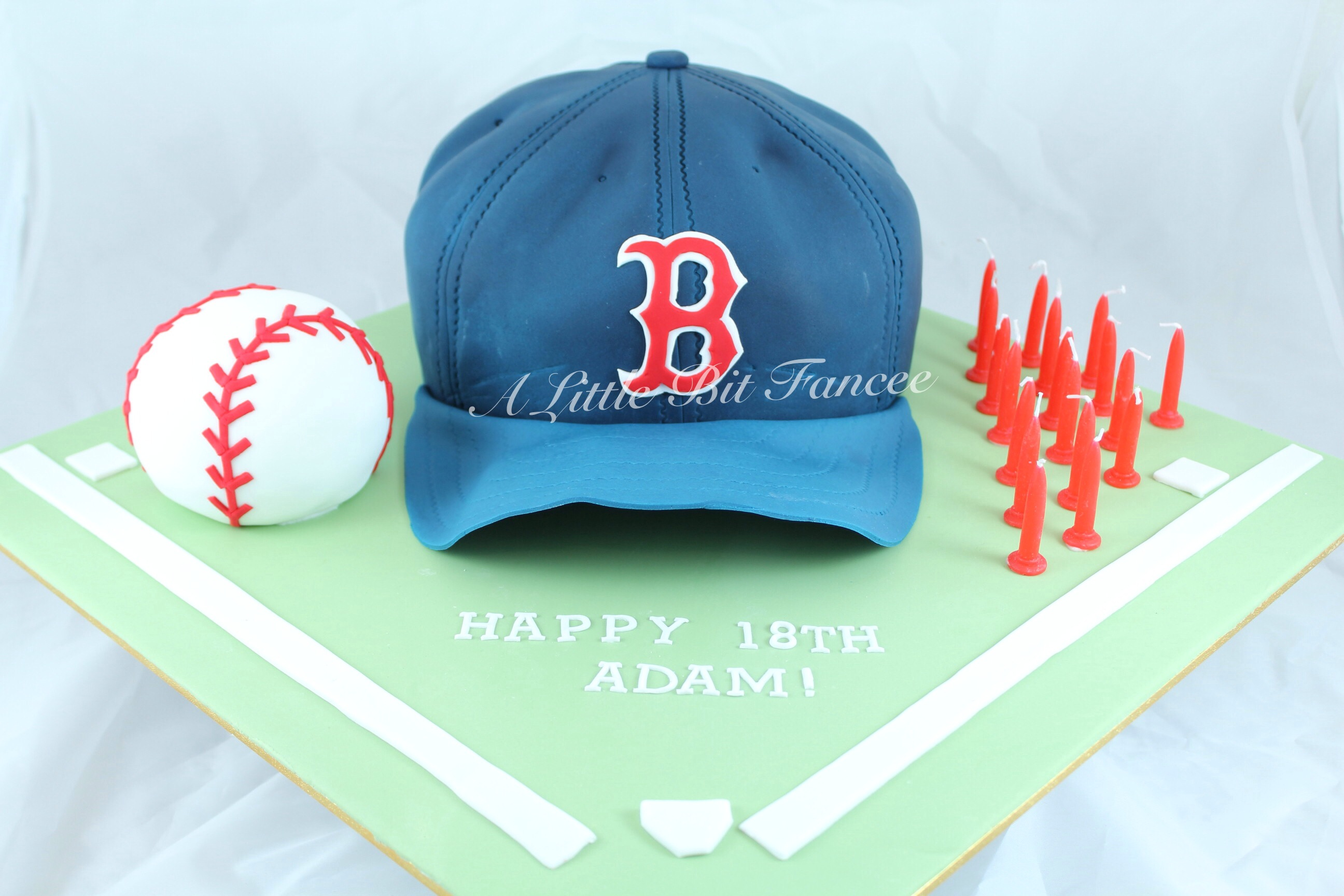 Baseball Cake for a 21st Birthday