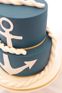 Sailor navy cake