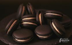 Jet Black Macarons