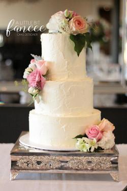 Classic buttercream floral cake