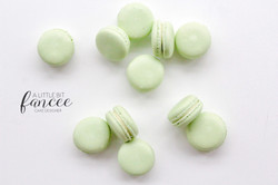 Mint green macarons