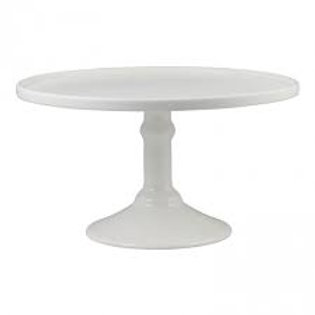 """12"""" round (30cms) white cake stand HIRE ONLY"""