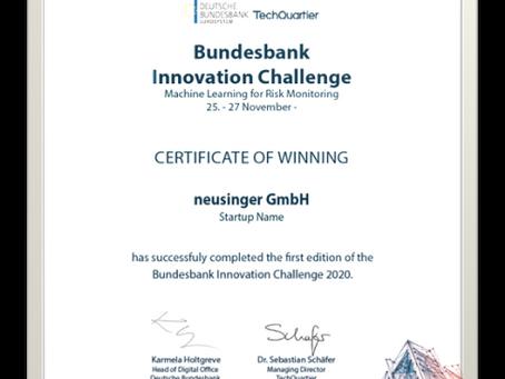 neusinger.ai ist einer der Gewinnern der Bundesbank AI Challenge