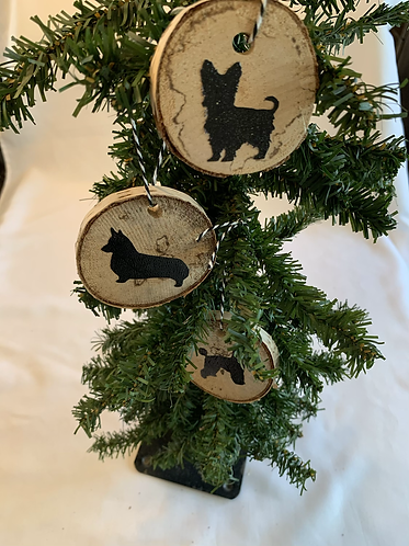 Wooden Dog Breed Ornament