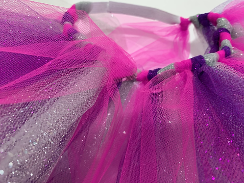 Hot Pink, Purple & Silver Sparkle
