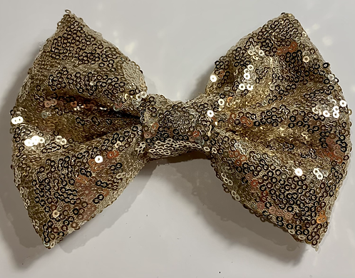 Large Golden Sequined Clip