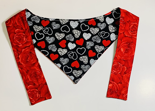 Black and Red Hearts & Roses