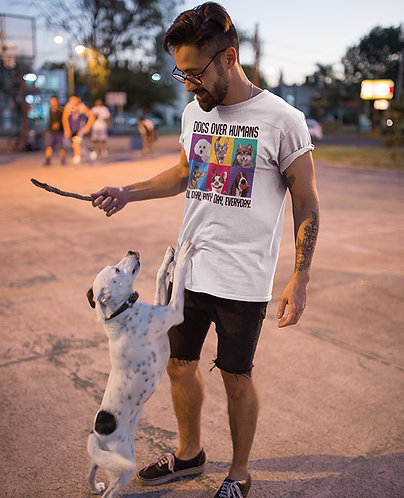 Dogs Over Humans – Men's T-shirt