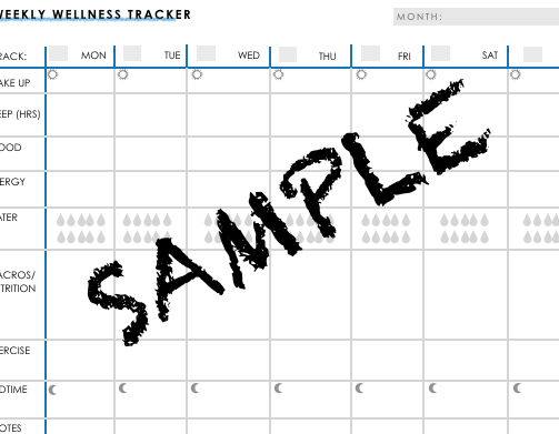 Weekly Wellness Tracker