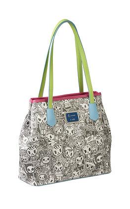 TDxAN Monochrome No. 1 Convertible Tote Bag (Neon)