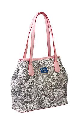 TDxAN Monochrome No. 1 Convertible Tote Bag  (Pink)