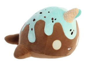 TASTY PEACH ICE CREAM CONE WHALE (BROWN) 12.5""