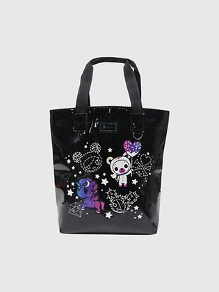 Galactic Dreams Shiny Vinyl Tote Bag