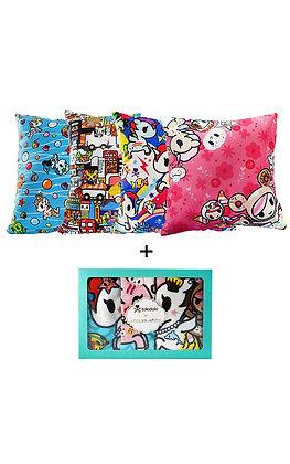1 Tokidoki Cushion + 1 Bath Towel Set