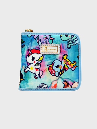 Watercolour Paradise Small Zip Around Wallet