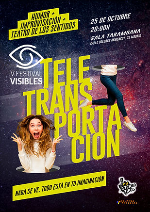 Cartel teletransportacion vertical VISIB