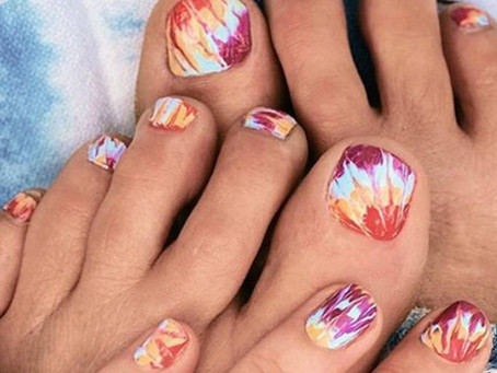 Tie-dye is the cheery nail art trend that will make hippie chicks of us all